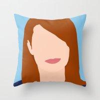 Emma Stone Digital Portrait Throw Pillow