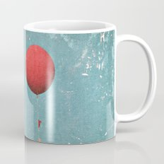 Big Red Balloon -- Minimal Whimsical Painterly Canvas with rustic vintage charm Mug
