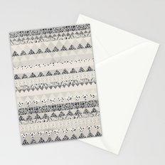 MONOTONE  GEOMETRIC ANIMAL PRINT  Stationery Cards