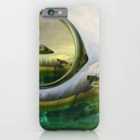 iPhone & iPod Case featuring Slipping thru time like sun rays on glass by Donuts