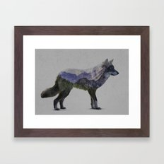 The Rocky Mountain Gray … Framed Art Print
