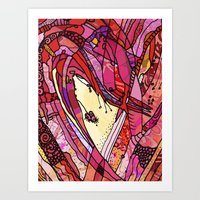 Inside the Heart  Art Print