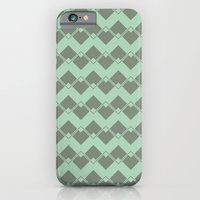 Mint Geometric Art Deco Chevron Pattern iPhone 6 Slim Case