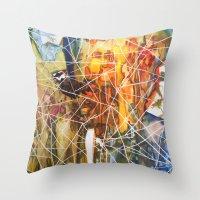 Triangle City Throw Pillow