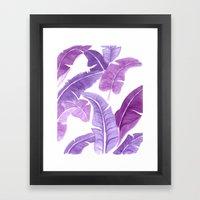 Purple Palms Framed Art Print
