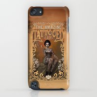 iPod Touch Cases featuring The Amazing Tattooed Lady by Rudy Faber