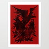 Crowned Crows Art Print