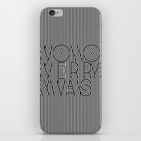 Mono Merry Xmas iPhone & iPod Skin