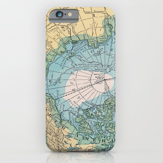 Vintage Arctic Map iPhone & iPod Case