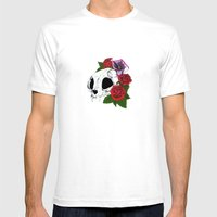 Kitty Skull Mens Fitted Tee White SMALL
