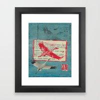 Whooping Crane Collage Framed Art Print