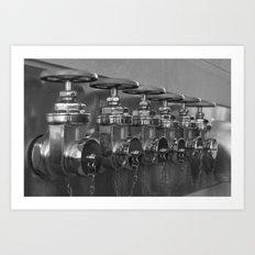 Hydrants Art Print