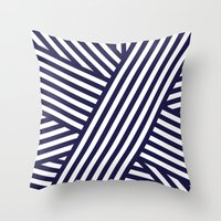 Nautical Bandaids Throw Pillow