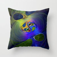 Funny Colours Throw Pillow
