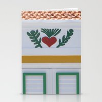We Heart Green And Yello… Stationery Cards