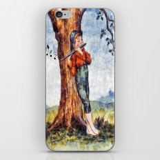 The Boy And The Flute iPhone & iPod Skin