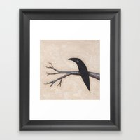 Crow On Branch  Framed Art Print