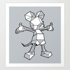 Origamey Mouse Art Print