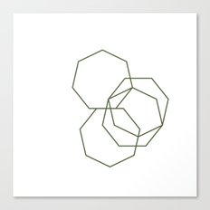 #313 Stone shadows – Geometry Daily Canvas Print