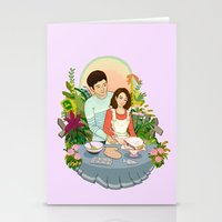We Make a Cute Couple Stationery Cards