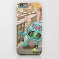 iPhone & iPod Case featuring Squid vs Robot by Nate Bear