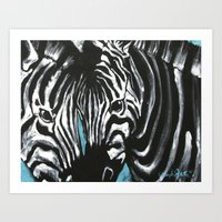 Eye Of Contrast {Zebra L… Art Print