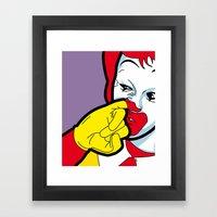 The secret life of heroes - Fast Food Framed Art Print