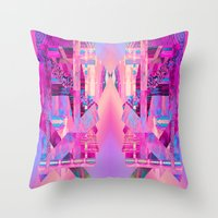 Taj Digi Collage Throw Pillow