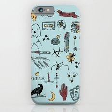 color raven doodles iPhone 6 Slim Case