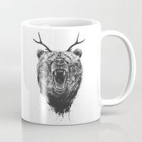 Angry Bear With Antlers Mug