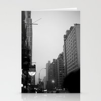 new york city in the rain  Stationery Cards