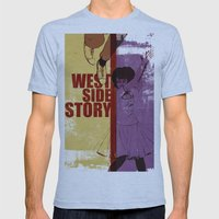 West Side Story Mens Fitted Tee Athletic Blue SMALL