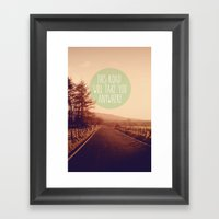 This Road Will Take You … Framed Art Print
