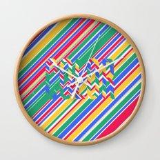 Color Stripes Wall Clock
