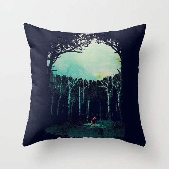 Deep in the forest Throw Pillow