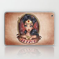 Laptop & iPad Skin featuring Amazon Pinup by Tim Shumate