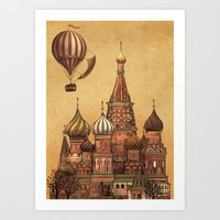Trip To Moscow Art Print