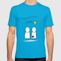 Jibsey & Jess. Catch A F… Mens Fitted Tee Teal SMALL