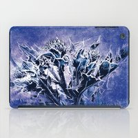 Thistle and Weeds_deep purple iPad Case