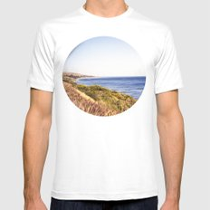 California Coast  SMALL White Mens Fitted Tee