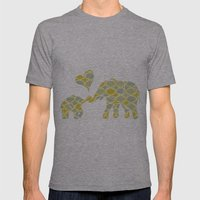Elephant Hugs Mens Fitted Tee Athletic Grey SMALL