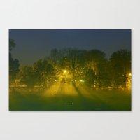 Foggy Night Canvas Print