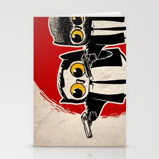 Owls Pulp Fiction Stationery Card