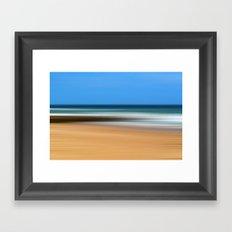 Boscombe Beach Abstract Framed Art Print