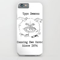 iPhone & iPod Case featuring Typo Demons by Ashley K. Alexander