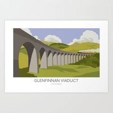 Glenfinnan Viaduct Railway Poster Art Print