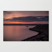Sets on the West Canvas Print