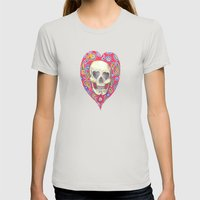 Skulladelia Womens Fitted Tee Silver SMALL