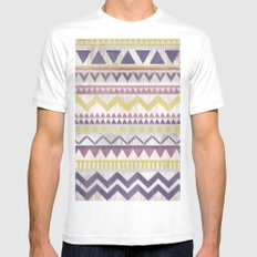 Pattern No. 2 SMALL White Mens Fitted Tee