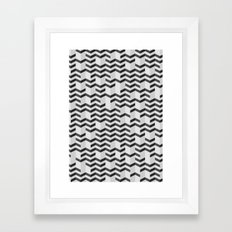 FOLDED / black Framed Art Print